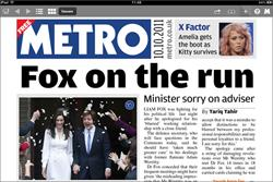 Metro launches iPad edition