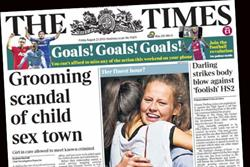 The Times combined readership up 8%