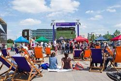 Wimbledon big screen returns to King's Cross