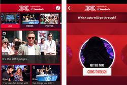 Domino's sponsors The X Factor app