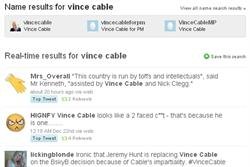 Vince Cable is slammed in social media