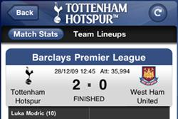Spurs iPhone app offers audio commentaries for monthly subscription