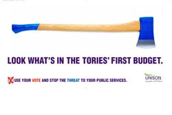 Unison launches poster campaign to warn of Tory cuts