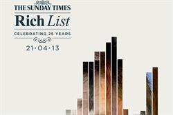"News International ""The Sunday Times Rich List"" by Grey London"