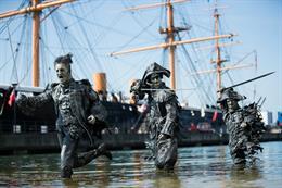 In pictures: Walt Disney Studios creates pirate-themed art installation