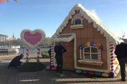 Dreamworks devises giant gingerbread house to promote new tour