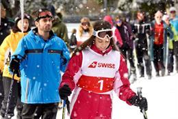 In pictures: Swiss International refines British queuing techniques