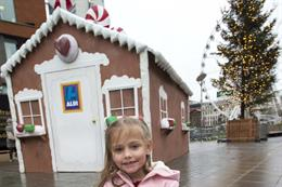 In pictures: Aldi's gingerbread house lands in Manchester