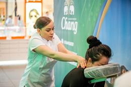 In pictures: Chang beer runs massage activation at Westfield Stratford