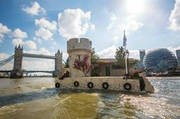 In pictures: Croatia sails Adriatic island down the Thames