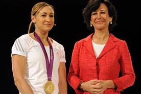 Jessica Ennis: pictured with Santander UK chief executive Ana Botin