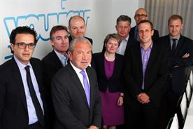 YouView: Lord Sugar, chairman, with the joint partners in the venture