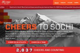 McDonald's: cheers to Sochi website