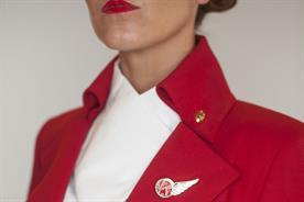 Virgin Atlantic uniforms by Vivienne Westwood