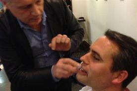 Watch: King of Shaves' Will King gives impromptu shave to Direct Line Group marketer