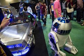 Back to the future: R2D2 and the DeLorean make an appearance at last year's SXSW