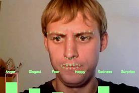 Realeyes managing director Mihkel Jäätma with face-tracking system