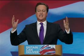 Conservative Party: leader David Cameron during his keynote speech