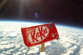 KitKat 'Break from Gravity': sent into space to coincide with Felix Baumgartner's space dive