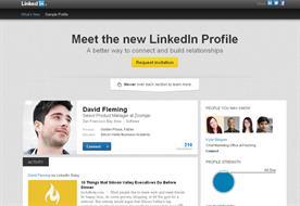LinkedIn: new profile page