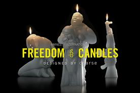 Amnesty International freedom candles designed by Coarse