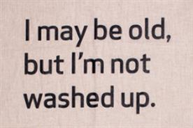 AgeUK: prints its policy on a tea towel