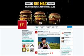 McDonald's: fast food brand's Twitter page