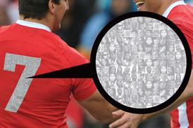 Playing2 technology: allows fans' photos to be printed on players' shirts