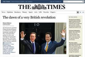 Times Online: new website