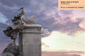 FT: ad campaign features Britannia climbing back onto her plinth