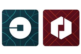 Uber's new logo: circular for passengers and hexagonal for drivers
