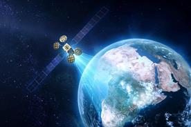 Facebook: a mock-up of satellite Amos-6