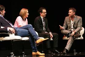 Channel 4 management team (from left Jonathan Allan, Jay Hunt, David Abraham and Adam Hills)