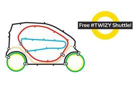 Renault: runs free #Twizy shuttle scheme during Tube strike