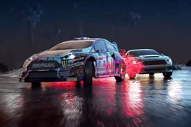 Virtual Drift is a Tron-esque experience by Castrol