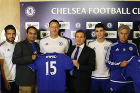 Chelsea FC: John Terry and Jose Mourinho with Wipro's digital team