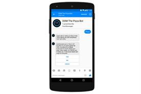 Domino's: the fast-food company has launched a Messenger bot