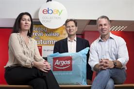 Partners: Tanya Lawler, UK vice-president eBay, John Walden, MD Argos and David Wenig, president eBay