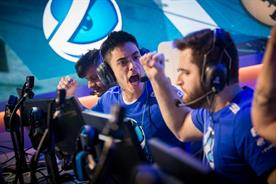 Esports: winning CS:GO team Luminosity celebrate their win