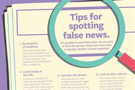 Facebook press ads offer tips on how to spot fake news
