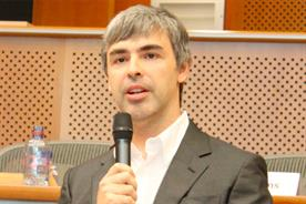 Larry Page: the chief executive of Google (photo credit: Marcin Mycielski)