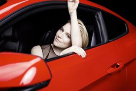 Sienna Miller: promotes the Ford Mustang's European arrival