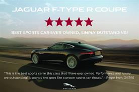 User generated content: Jaguar is one brand that has introduced reviews into advertising