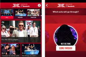 The X Factor app: sponsored by Domino's