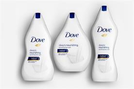 Dove's body-shaped bottles backfire