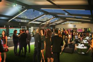 First look: Giggs and Neville reveal football pitch event space