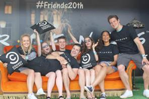 Public Worldwide tours Friends sofa for 20th anniversary