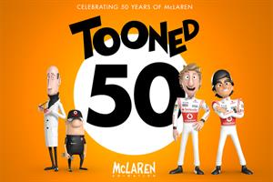 McLaren 'Tooned' animation celebrates team's 50th anniversary