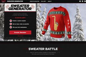 Coke Zero invites users to create their own tacky Christmas sweater