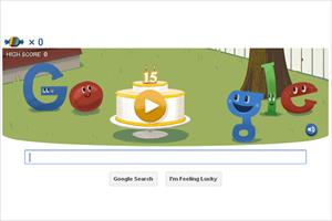 Google celebrates 15 years of search with piñata game